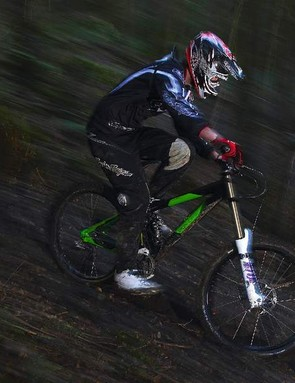 Maintain maximum momentum into mud to stop your bike bogging down