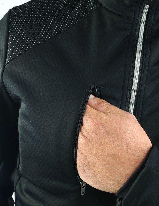 The outer chest pocket is perfect for music players, keys and money