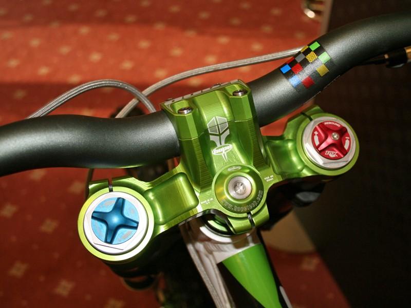 Custom green parts on Hope CEO Ian Weatherill's Orange 225