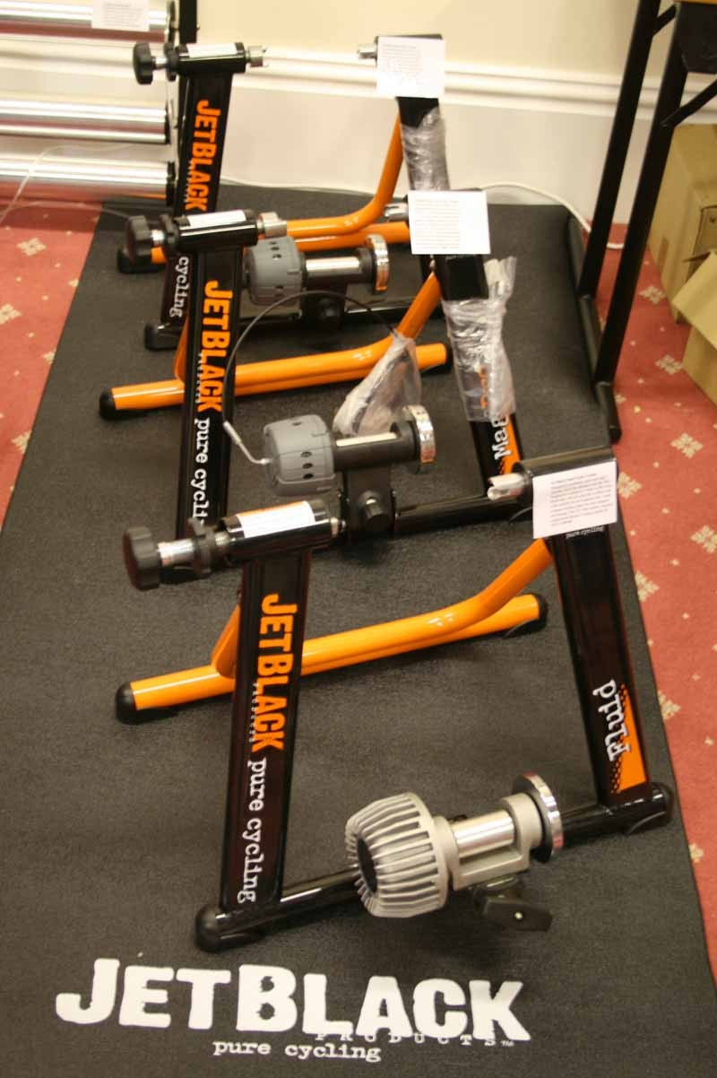 The Jet Black range of turbo trainers