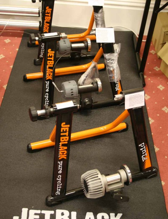 The Jet Black range of turbo trainers
