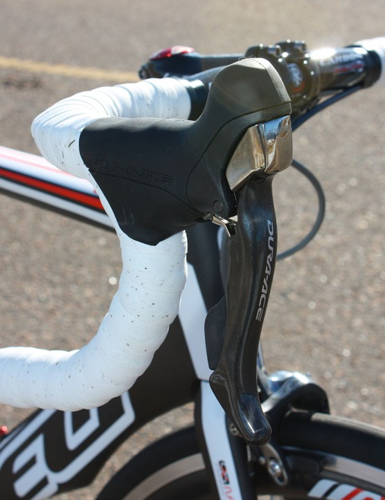 Shimano Dura-Ace STI Dual Control levers provide reliably consistent shift performance