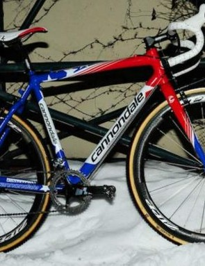 Johnson's special Cannondale built for Tabor.