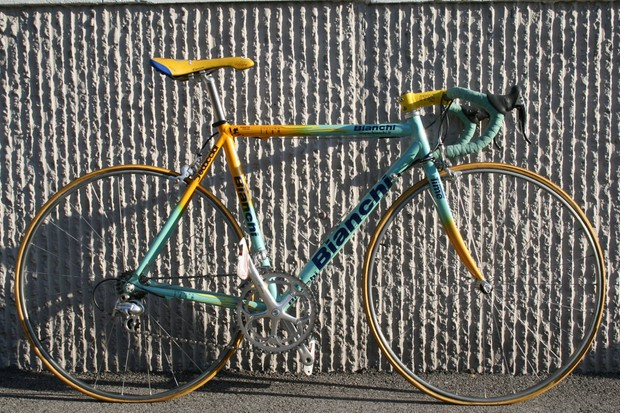 Marco Pantani (Mercatone Uno) rode his custom Bianchi to victory in both the Tour de France and Giro d'Italia in 1998