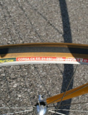 Some things never change: Vittoria's Corsa EVO CX tubular is a top choice among today's pros, just as its predecessor was back in the day