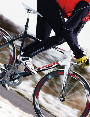 Neil proved that it is about the bike, using Trek's do-it-yourself Project One system to spec and colour co-ordinate a super high-end road bike