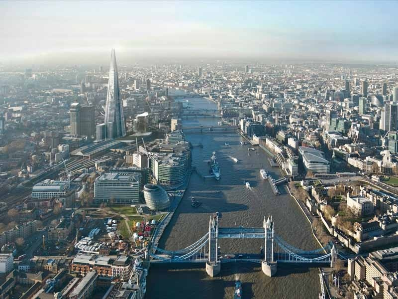 Artists impression of the view from the top of The Shard, aka London Bridge Tower