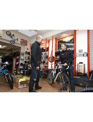 Neil was measured up for the Madone by a Trek dealer, specced the kit and even chose the paint scheme using Trek's Project One system