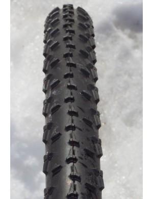 The new tyre's tread pattern looks similar to Dugast's Rhino.