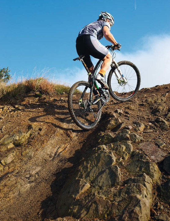A smooth pedal action is crucial – so Billy rides a gear he can spin to the top