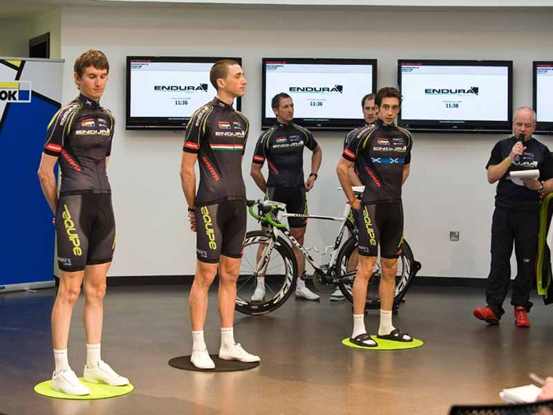 Endura Racing team members put on the spot