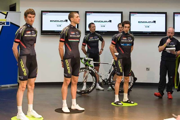 Endura Racing team members put on the spot