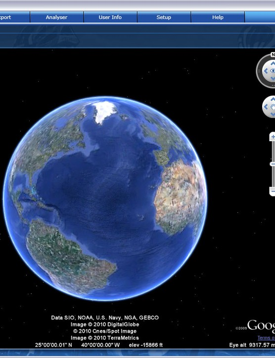 The neatly integrated Google Earth plug-in allows users to create a route using virtually any road on the planet