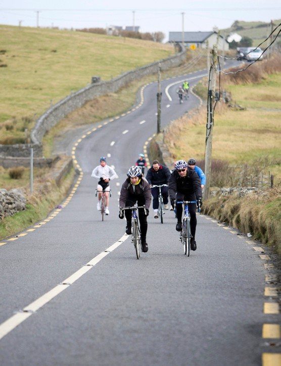 The ride starts and finishes in County Clare's capital Ennis and takes in the spectacular coastline of the west of Ireland including the world famous Cliffs of Moher