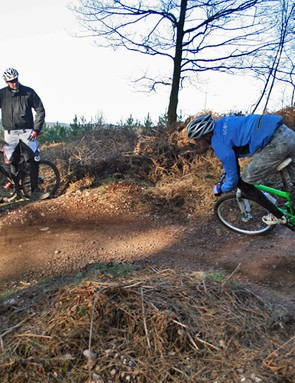 Grant looks at ease on the downhills