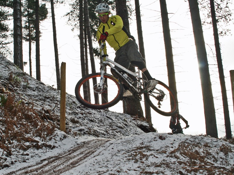 MBUK's Doddy – not bad considering this was a no-pedalling run to show the others how to pump!