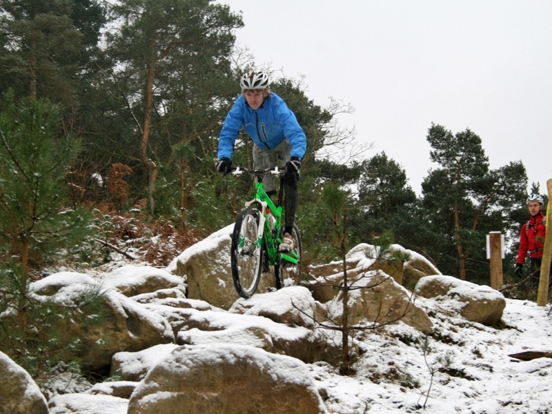 Scottish ripper Grant Ferguson tries out one of the black sections
