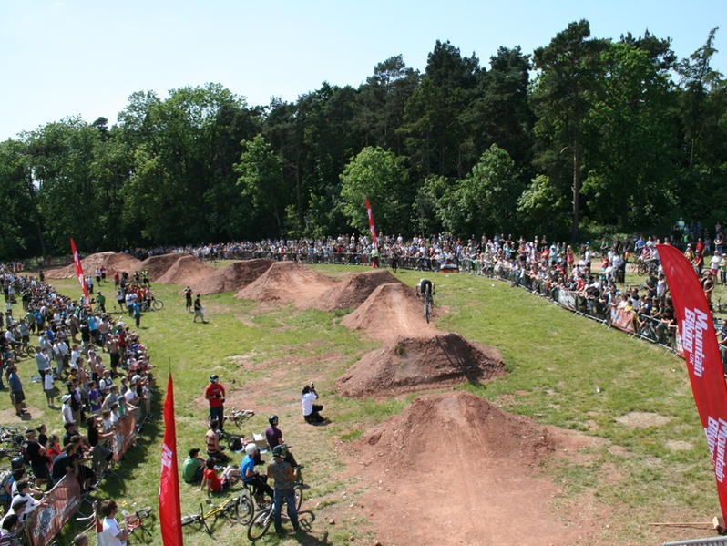 The awesome dirt jumps at last year's Radar Live