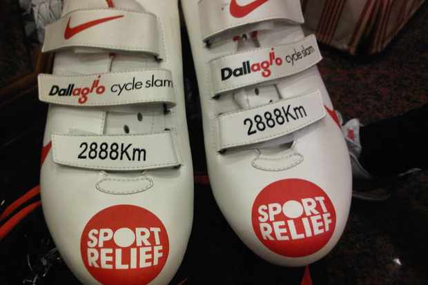 These shoes are made for riding 2888km