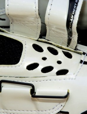 The perforated tongue is generously padded with high-density memory foam to prevent pressure on the instep