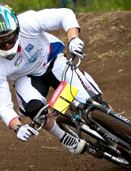 Jared Graves tested the Kashima Coat in World Cup four-cross