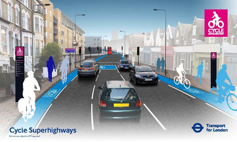 Artist's impression of all Cycle Superhighways measures
