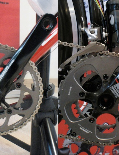 Materials aside, SRAM say the aesthetics of the Apex cranks were designed to give customers the 'racers' appearance without the bigger price tag.