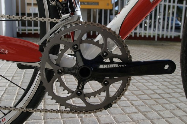 Apex employs the exactly the same Powerglide chainrings as Rival.