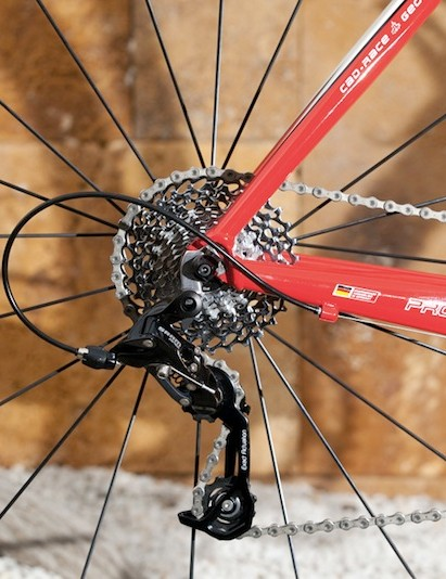 With an 11-32 cassette, Apex users will have a huge range of gears to tackle any terrain. This image shows the ratio that can be achieved with a 34x32 combination.