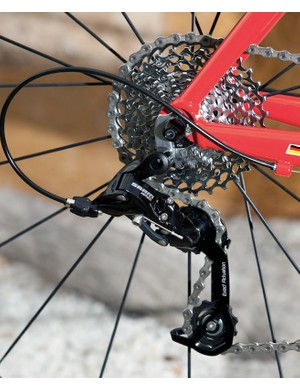 A medium-cage rear derailleur handles the bigger cassettes, while a short-cage mech will be available for those that don't want the smaller gears on offer.