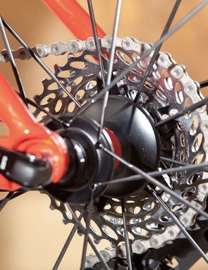 Aside from slightly heavier spacers and a stainless steel (rather than aluminum) lockring, the PG-1050 cassette is almost identical to the 1070 iteration.