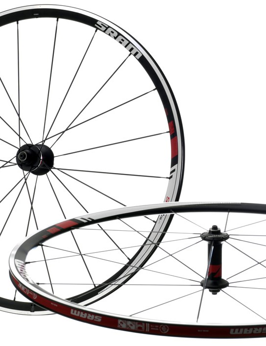SRAM says low profile hubs reduce drag and help to focus support for the entire wheel around the oversized axles.