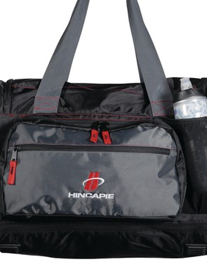 Among the duffel's features are dedicated pockets for shoes, helmets and water bottles