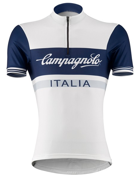 Campagnolo's Half Zip Logo Jersey is inspired by the history of the great Italian champions and by the heroic battles between Coppi and Bartali