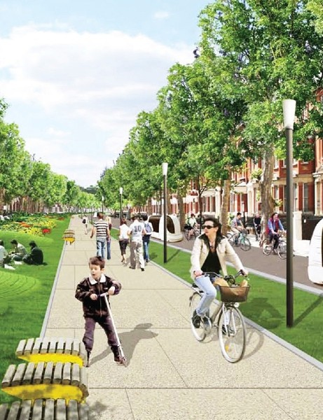 The BikeGrid suggested by the London Cycling Campaign would provide a system of north-south and east-west routes linking into the new Cycle Superhighways
