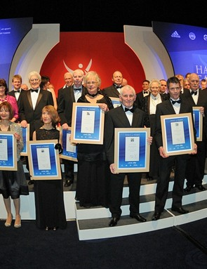 38 British Cycling Hall of Fame inductees and representatives personally collected their honours on the night