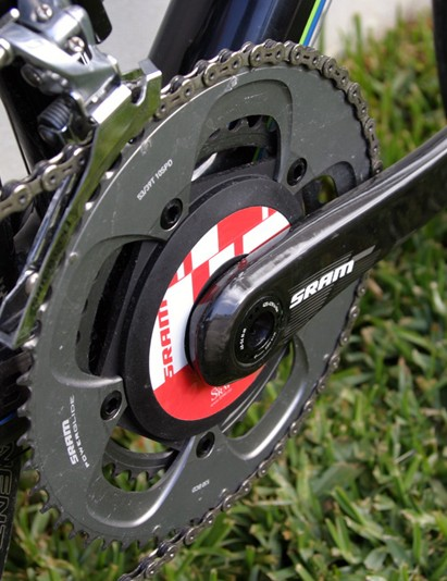 The challenge of accommodating the power measurement hardware led SRAM to develop new unidirectional carbon fibre crank arms