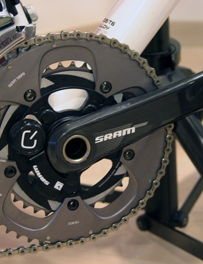 SRAM's Quarq crankset saves some 36g over its SRM counterpart