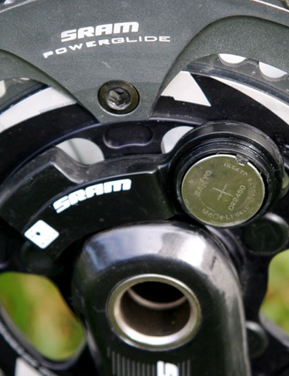 A user-replaceable battery is a big plus for the Quarq unit. SRAM suggest most users will get around nine months of use before having to replace the battery