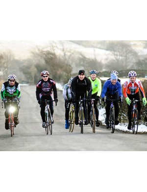 Chris Boardman led a group around this year's National Road Race Championship course in the Pennines
