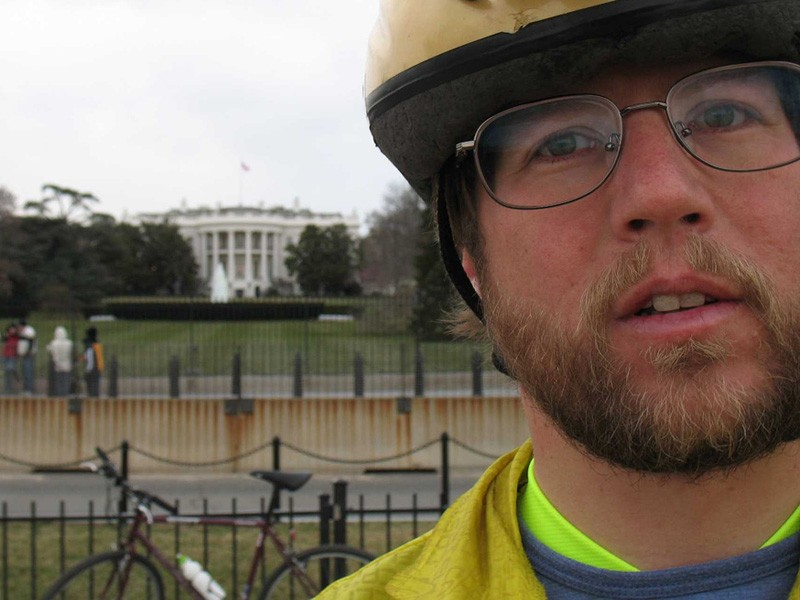 The Missouri Bicycle and Pedestrian Federation's Capitol Day is modelled on the National Bike Summit held in Washington DC. Pictured is MBF executive director Brent Hugh