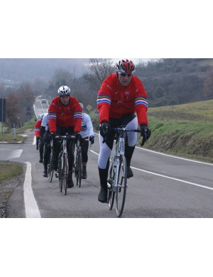 Bad weather has made the Dallaglio Cycle Slam hard going
