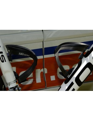 Team Milram use Tacx Tao carbon bottle cages
