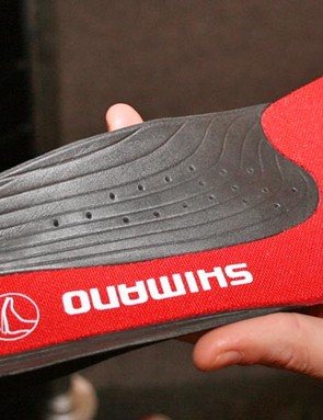 Shoe insoles now more cushioned on the mountain bike models