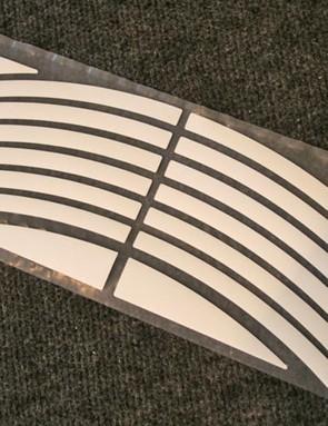 Pre-cut wheel stickers