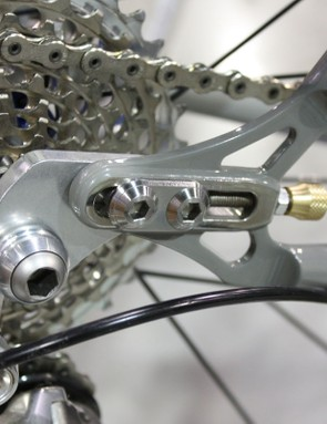 Sliding Paragon Machine Works dropouts on the new Cielo mountain bike frame easily allows for both geared or singlespeed use.