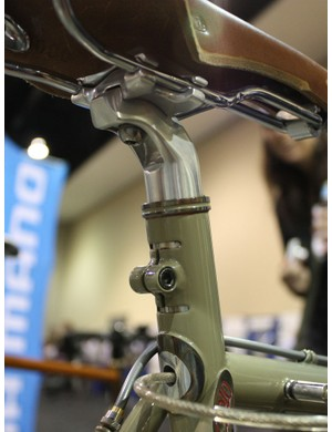 The extended seat tube also boasts a stainless steel reinforcement ring up top.