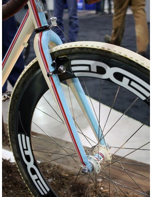 The Edge Composites fork is naturally painted to match.