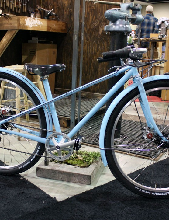This mixte bicycle shows off Vanilla Bicycles' trademark style.