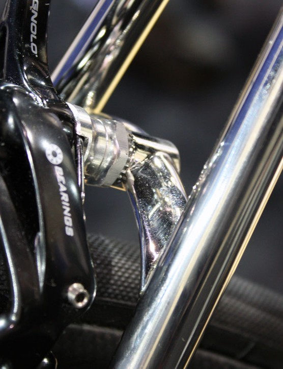 The rear of the brake bridge is gently rounded …